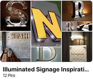 signage pinterest illuminated inspiration