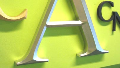 Custom routed sign letters  cut metal sign letters  wood letters and     CNC prismatic routed sign letters in HDU Sign Foam