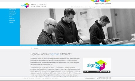 Inspirational new website for Signbox