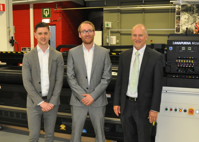 Andy McGuinness and Luke Walford, Directors of SEDO, with Steve Collins of Agfa