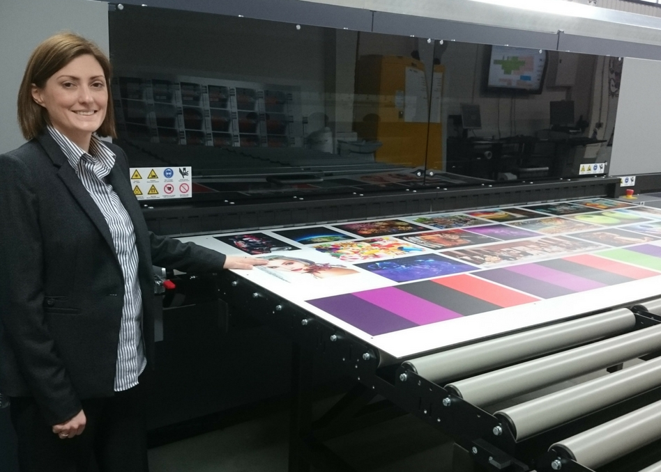Nicole Spencer with the new Durst system at RMC Digital Print