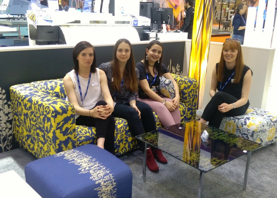 BCU students visiting FESPA