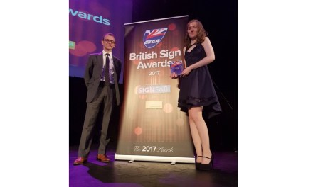 Printdot's Natasha Berry is the Young Signmaker of the Year