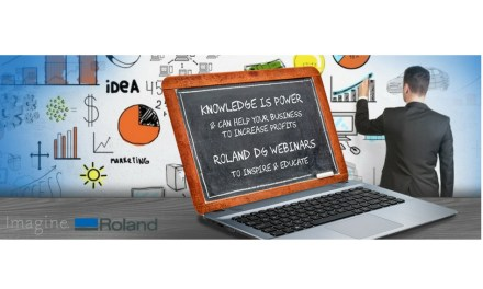 Join the Roland DG Academy's first Webinair tomorrow
