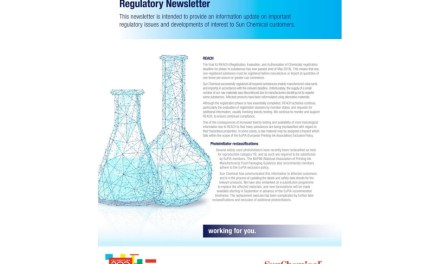 Sun Chemical Releases Fall 2018 Regulatory Newsletter
