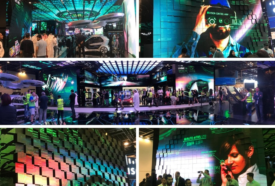 Robotic LED Video Walls wow at GITEX