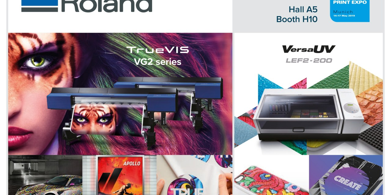 Roland DG set to inspire at FESPA 2019