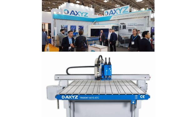 AXYZ Trident print finishing system shines at FESPA