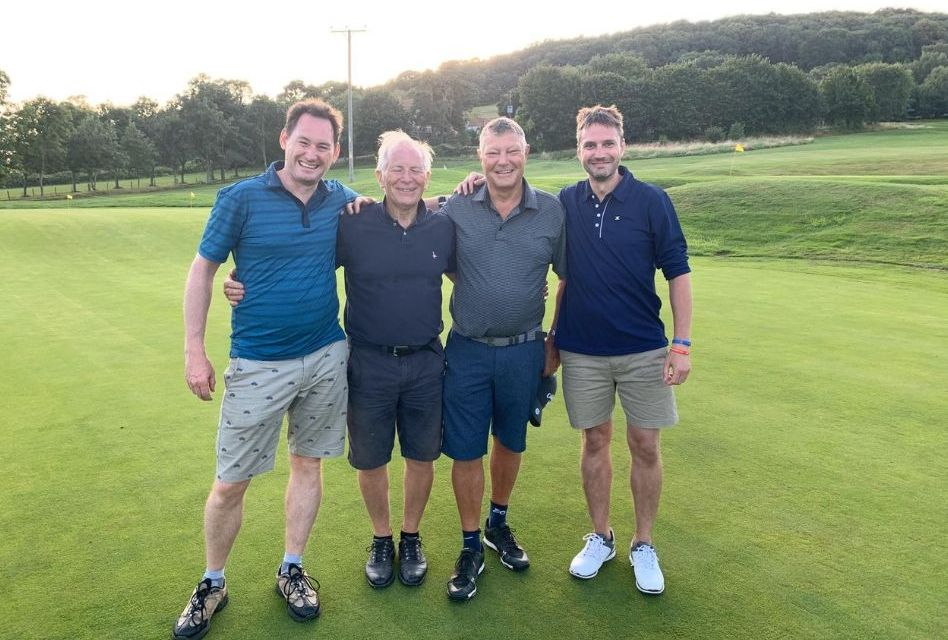Engraving chiefs tee off against cancer