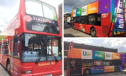 The Emmerdale bus takes pride of place