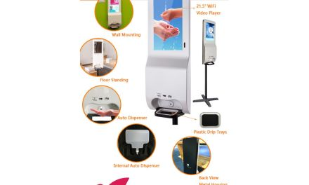 NoviSign introduces hand sanitising digital kiosks