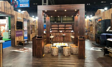 Antalis scoops award for alpine themed stand