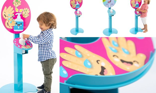 Ultima Displays unveils a child-friendly sanitising station