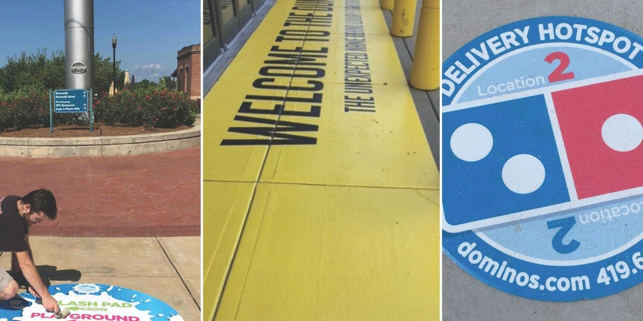 AlumiGraphics the material of choice for floor signs