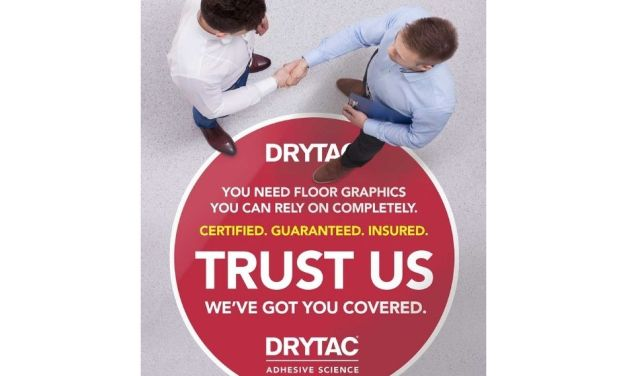 Drytac helps ensure floor graphics are safe and legal