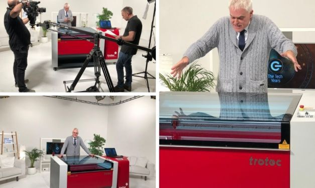 Trotec laser cutter achieves 15 minutes of fame!