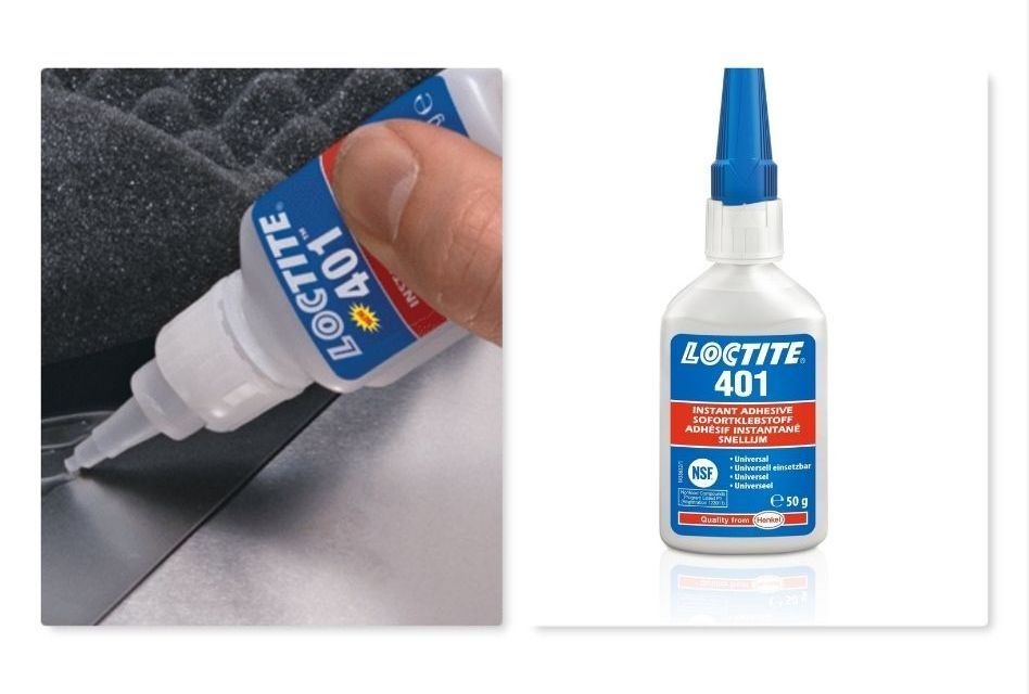 LOCTITE 401 adhesive combines ease, speed and aesthetics