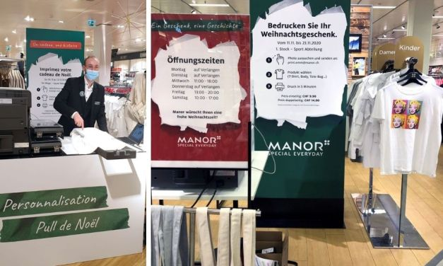 Swiss retail giant Manor produces gifts galore!