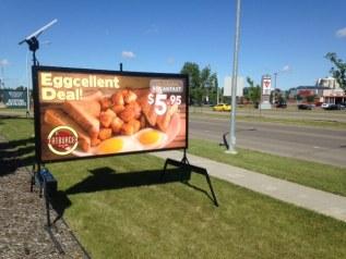 mini billboards signs edmonton