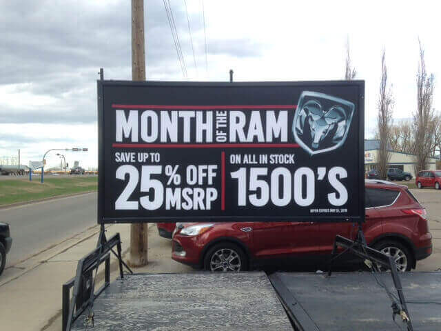 Mini Billboard Sign Rental