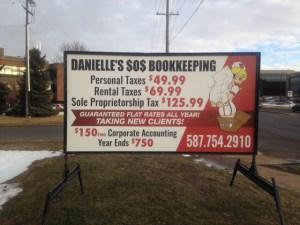 Roadside Signs Rentals