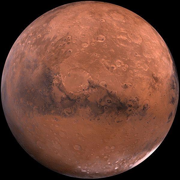 El planeta Marte es de color rojo