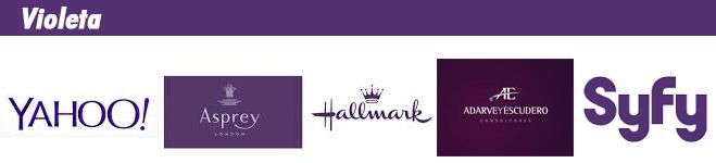 Logotipos de marcas de color violeta
