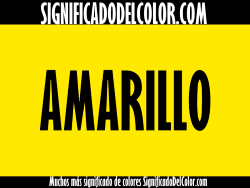 significado del color amarillo