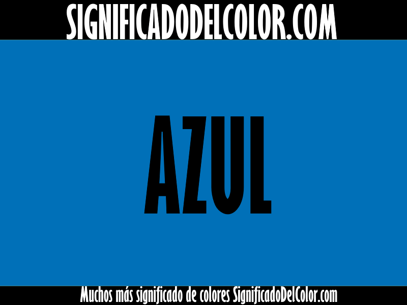significado del color azul