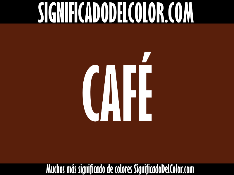 significado del color cafe