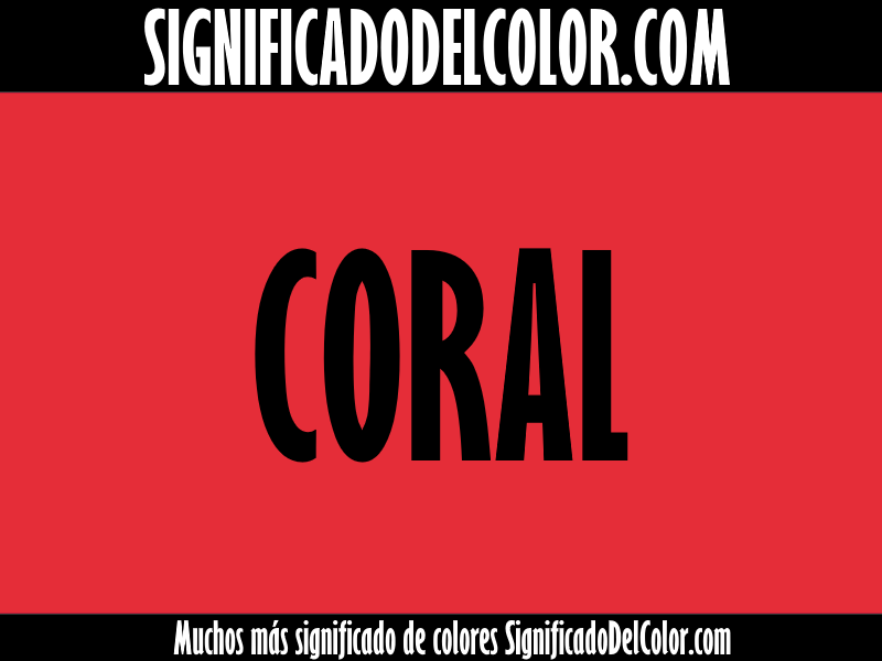 significado del color coral