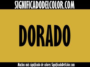Significado del color dorado