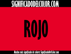 significado del color rojo