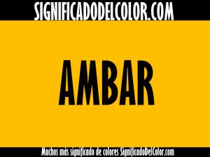 cual es el color ambar