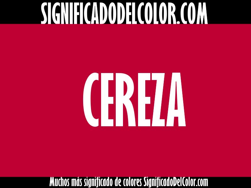 ¿Cual es el color Cereza?