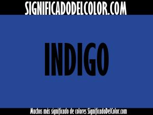 cual es el color indigo