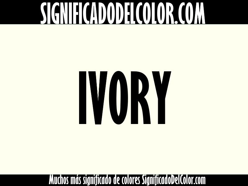 cual es el color ivory