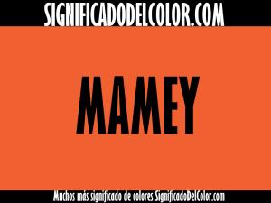 cual es el color mamey