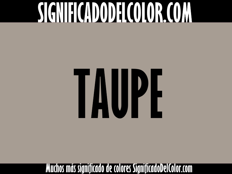 Cual es el color taupe ▷【Como es el color taupe + Ejemplo】
