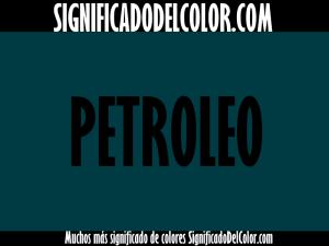 cual es el color verde petroleo