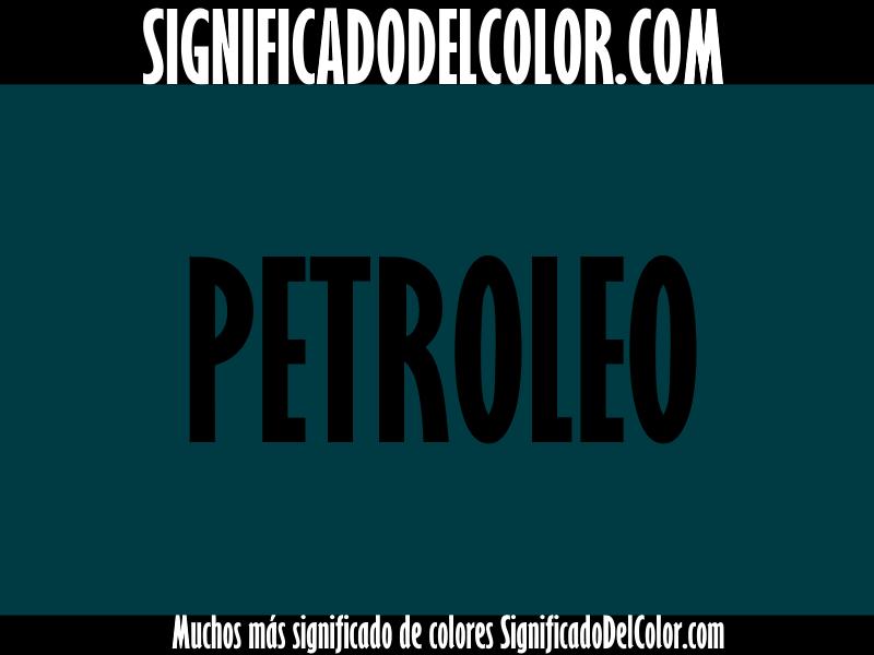Cual es el color verde petroleo ▷【Como es el color verde petroleo + Ejemplo】