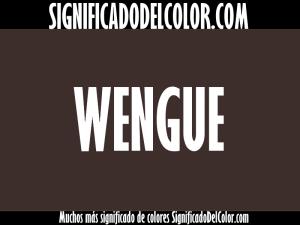 cual es el color wengue