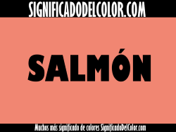 significado del color salmón