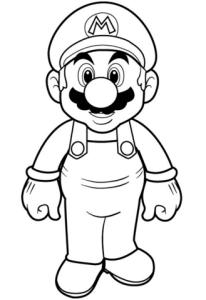 Super Mario para colorear 1