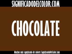 cual es el color chocolate