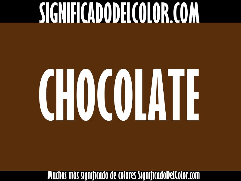 ¿Cual es el color Chocolate?