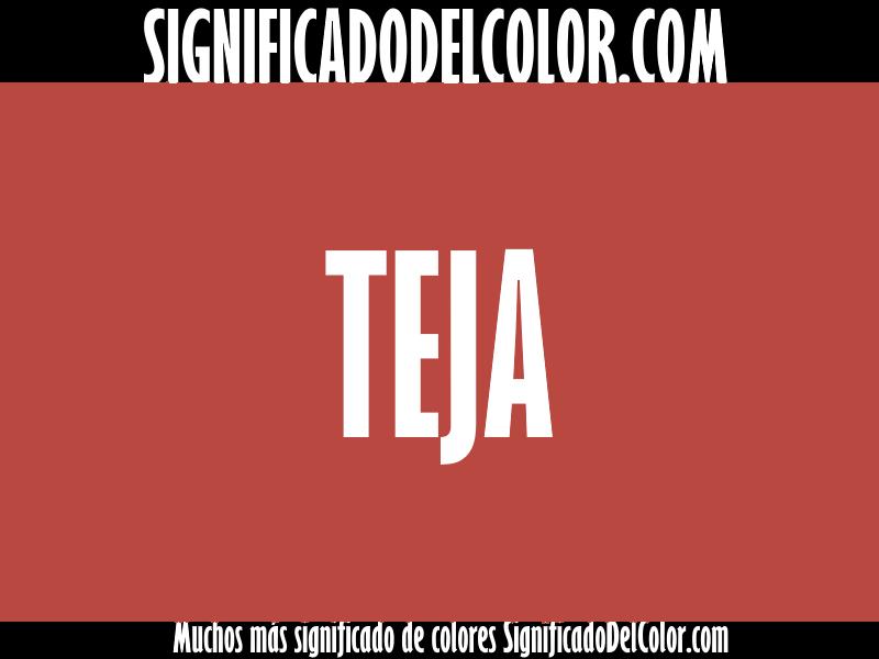 ¿Cual es el color Teja?