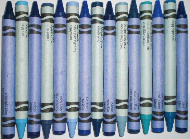 el color azul crayola proviene de las famosas ceras o pinturas