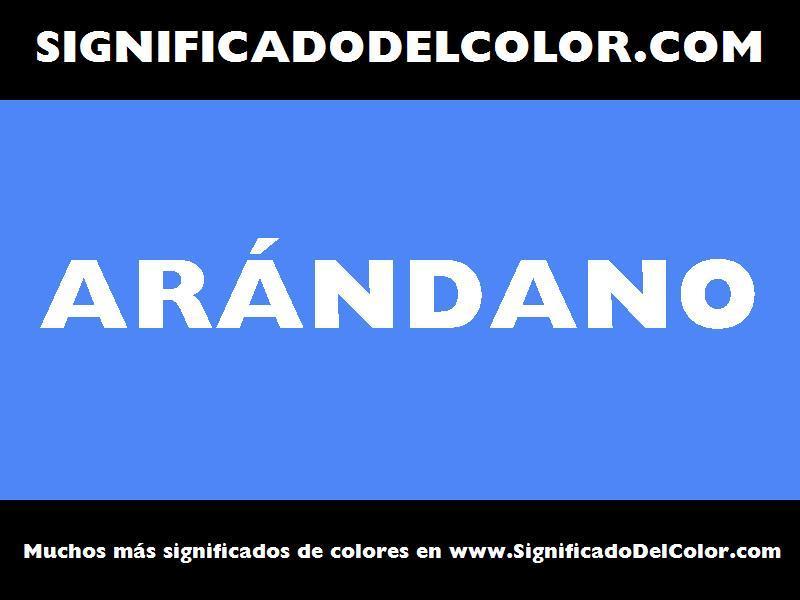 ¿Cual es el color Arándano?