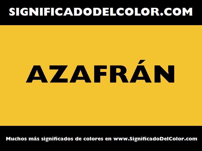 ¿Cual es el color Azafrán?